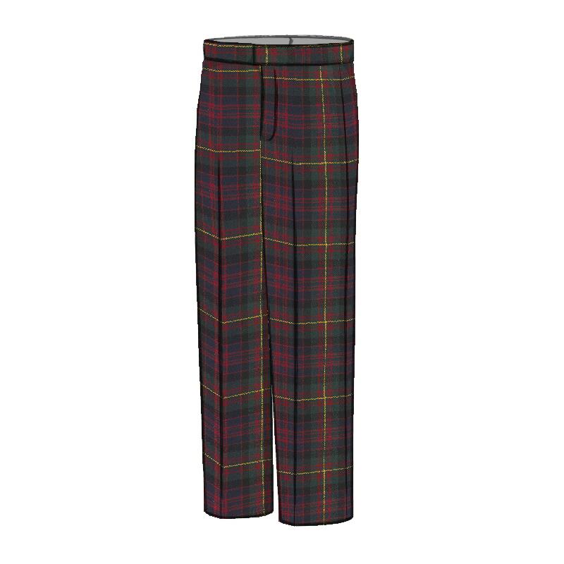 Men's Tartan Trousers - Classic Fit