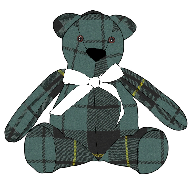 Tartan Teddybär in Wallace Hunting Ancient