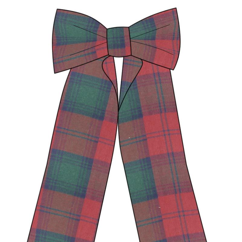 Big Wool Tartan Bow