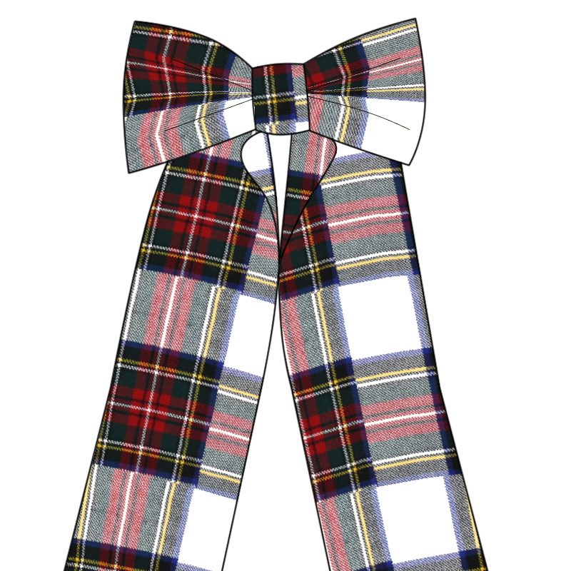 Big Wool Tartan Bow