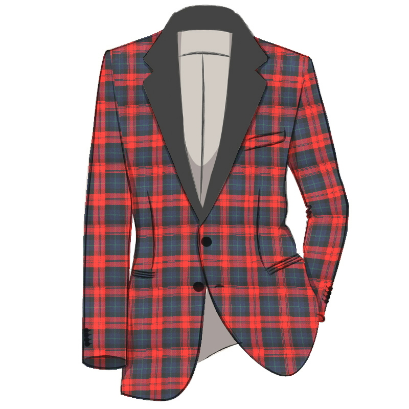 Men's Single Breasted Tartan Dinner Jacket