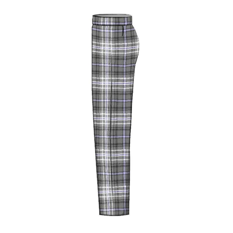 Men's Tartan Trousers - Slim Cut