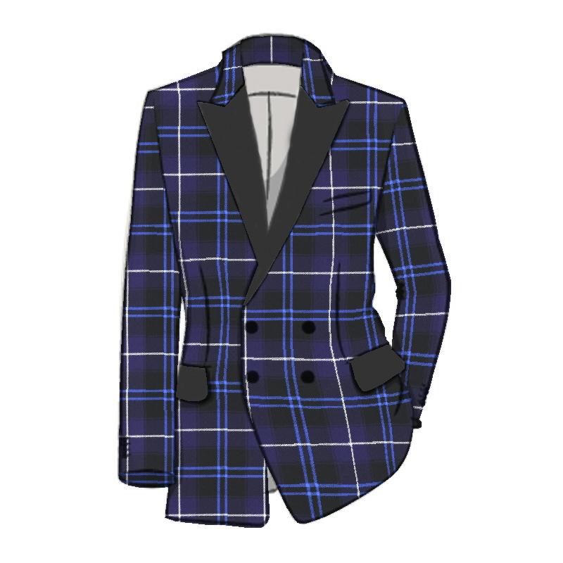 3 Piece Tartan Dinner Suit