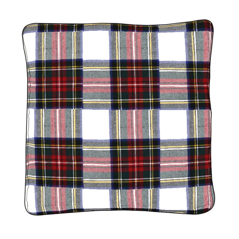 Piped Edge Tartan Cushion Covers