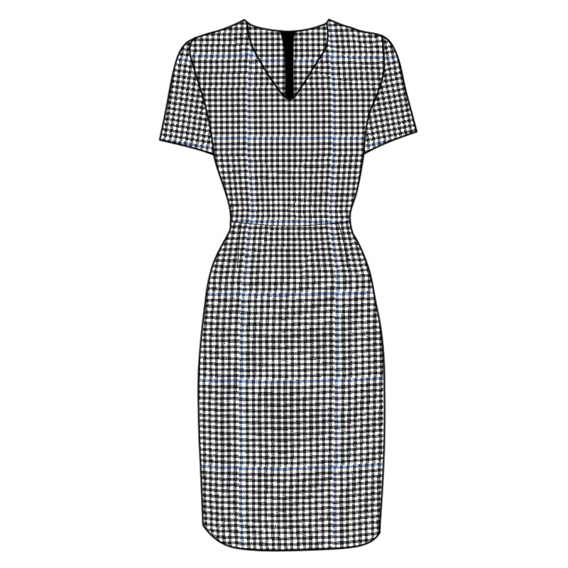 Fitted Tartan Dress